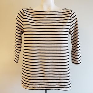 LOFT Striped Sweater Blouse